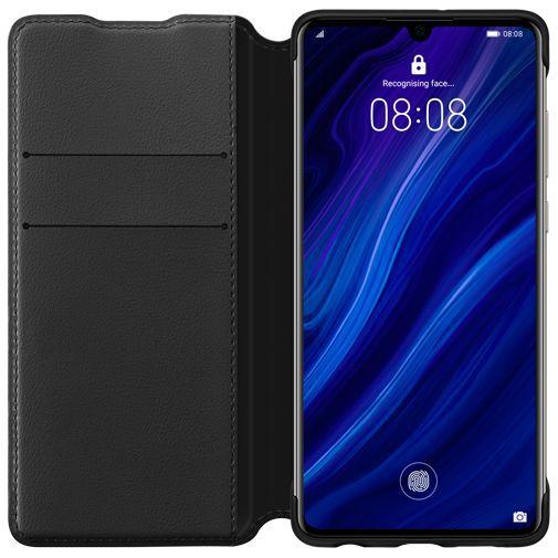Productafbeelding van de Huawei Wallet Cover Black P30