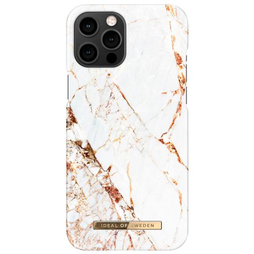 Productafbeelding van de iDeal of Sweden Kunststof Back Cover Carrara Gold Apple iPhone 12 Pro Max