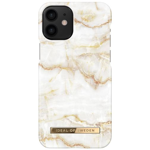 Productafbeelding van de iDeal of Sweden Kunststof Back Cover Golden Pearl Marble Apple iPhone 12 Mini