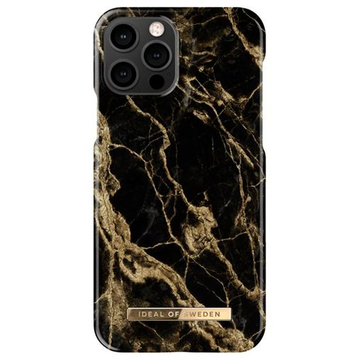 Productafbeelding van de iDeal of Sweden Kunststof Back Cover Golden Smoke Marble Apple iPhone 12/12 Pro