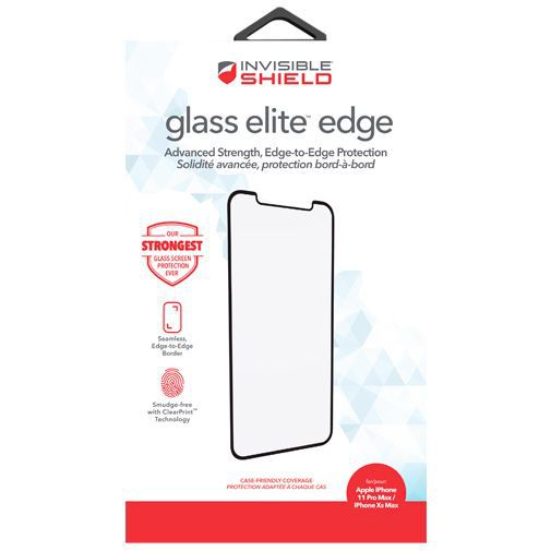 Produktimage des InvisibleShield Glass Elite Edge-to-Edge Displayschutzfolie Apple iPhone XS Max/11 Pro Max