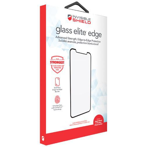 Produktimage des InvisibleShield Glass Elite Edge-to-Edge Displayschutzfolie Apple iPhone XS Max/11 Pro Max