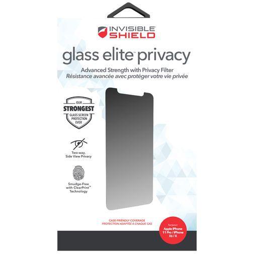 Produktimage des InvisibleShield Glass Elite Privacy Displayschutzfolie Apple iPhone X/XS/11 Pro