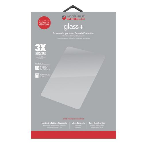 Productafbeelding van de InvisibleShield Glass+ Screenprotector iPad Pro 2018/2020 12.9