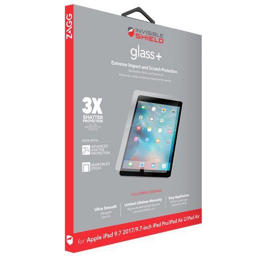 Produktimage des InvisibleShield Glass+ Displayschutzfolie Apple iPad Air/Air 2/Pro 9.7/iPad 2017/iPad 2018