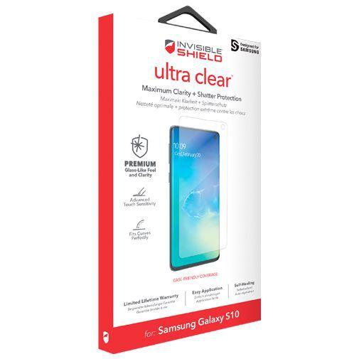 Produktimage des InvisibleShield Ultra Clear Displayschutzfolie Samsung Galaxy S10 G973