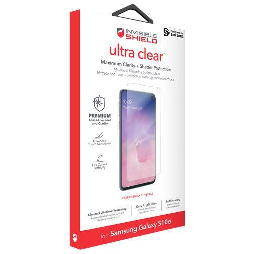 Produktimage des InvisibleShield Ultra Clear Displayschutzfolie Samsung Galaxy S10e