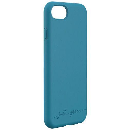 Productafbeelding van de Just Green Kunststof Back Cover Blauw Apple iPhone 6/6S/7/8/SE 2020