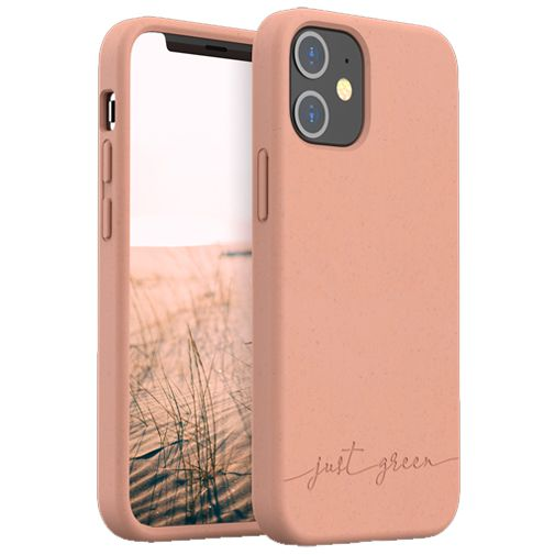 Productafbeelding van de Just Green Kunststof Back Cover Beige Apple iPhone 12 Mini