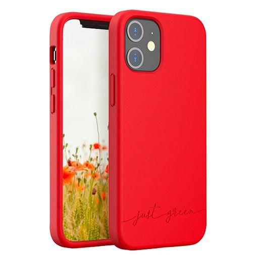Productafbeelding van de Just Green Kunststof Back Cover Rood Apple iPhone 12 Mini