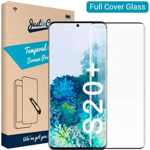 Productafbeelding van de Just in Case Full Cover Tempered Glass Samsung Galaxy S20 Plus