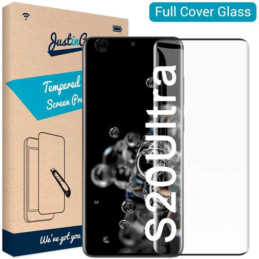 Productafbeelding van de Just in Case Full Cover Tempered Glass Samsung Galaxy S20 Ultra
