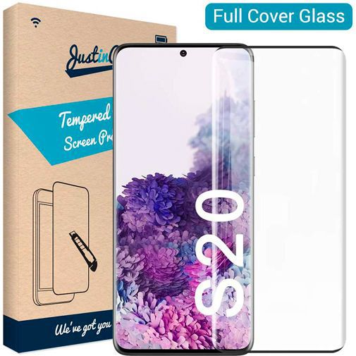 Productafbeelding van de Just in Case Full Cover Tempered Glass Samsung Galaxy S20