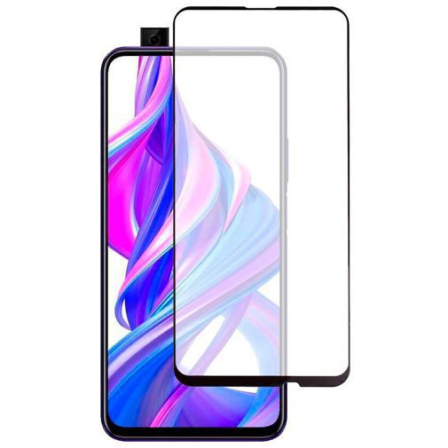 Productafbeelding van de Just in Case Full Cover Tempered Glass Screenprotector Black Huawei P Smart Pro