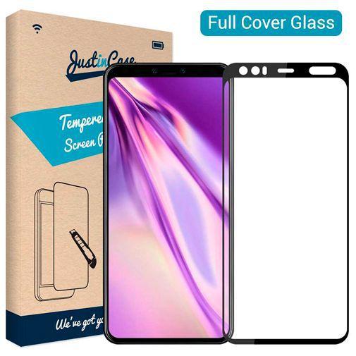 Produktimage des Just in Case Full Cover Gehärtetes Glas Displayschutzfolie Schwarz Google Pixel 4 XL