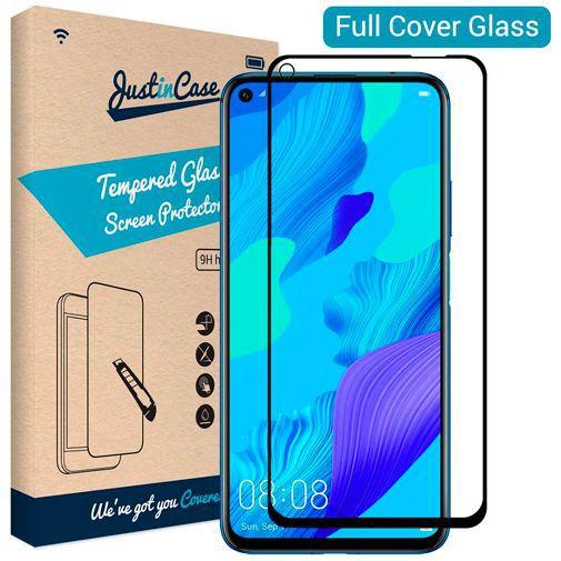 Productafbeelding van de Just in Case Full Cover Tempered Glass Screenprotector Black Huawei Nova 5T
