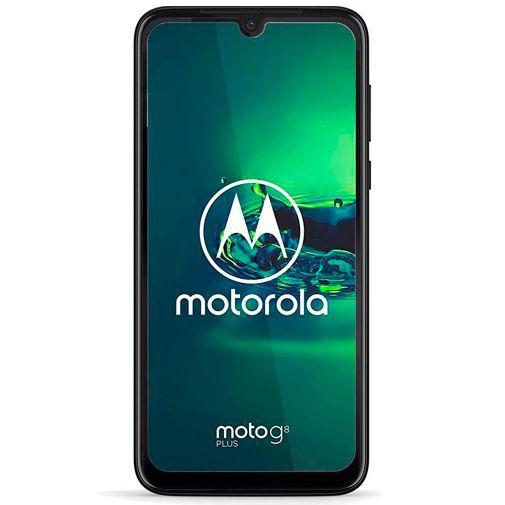 Productafbeelding van de Just in Case Full Cover Tempered Glass Screenprotector Black Motorola Moto G8 Plus