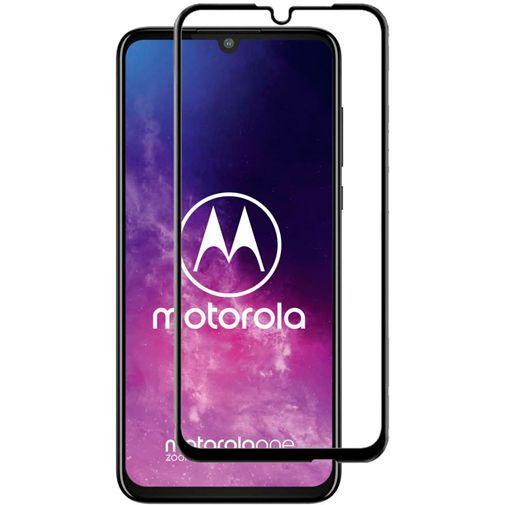 Productafbeelding van de Just in Case Full Cover Tempered Glass Screenprotector Black Motorola One Zoom