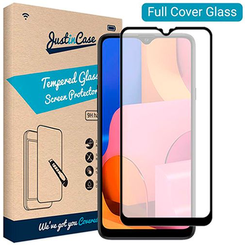 Productafbeelding van de Just in Case Full Cover Tempered Glass Screenprotector Black Samsung Galaxy A20s