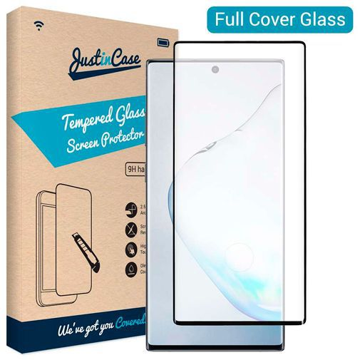 Productafbeelding van de Just in Case Full Cover Tempered Glass Screenprotector Black Samsung Galaxy Note 10+