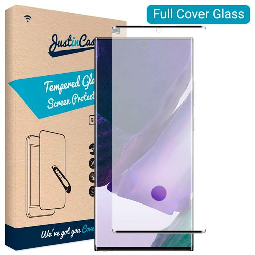 Productafbeelding van de Just in Case Full Cover Tempered Glass Screenprotector Black Samsung Galaxy Note 20 Ultra