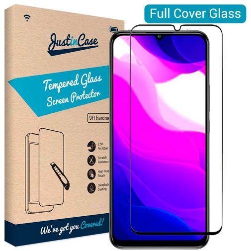 Productafbeelding van de Just in Case Full Cover Tempered Glass Screenprotector Black Xiaomi Mi 10 Lite