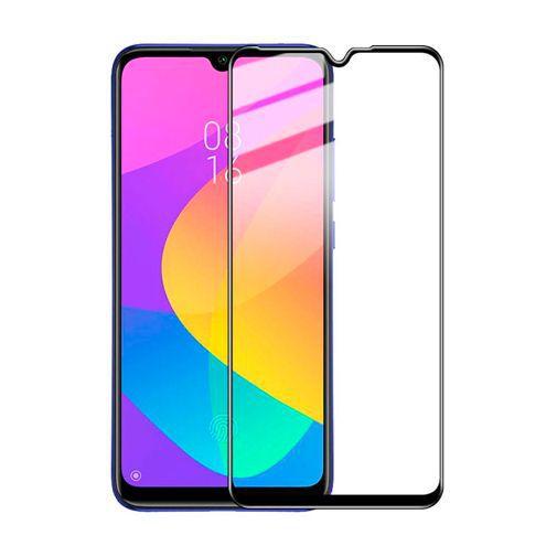 Produktimage des Just in Case Full Cover Gehärtetes Glas Displayschutzfolie Schwarz Xiaomi Mi A3