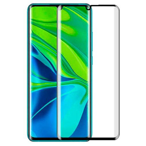 Productafbeelding van de Just in Case Full Cover Tempered Glass Screenprotector Black Xiaomi Mi Note 10/Note 10 Pro