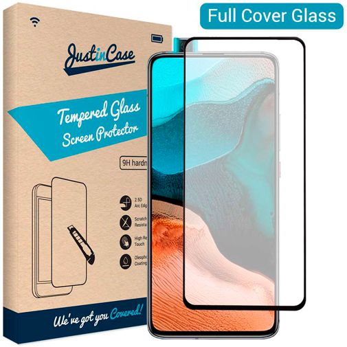 Productafbeelding van de Just in Case Full Cover Tempered Glass Screenprotector Black Xiaomi Poco F2 Pro