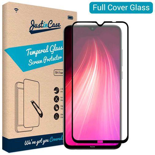 Productafbeelding van de Just in Case Full Cover Tempered Glass Screenprotector Black Xiaomi Redmi Note 8T