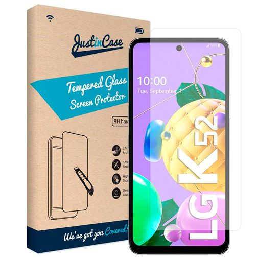 Productafbeelding van de Just in Case Gehard Glas Clear Screenprotector LG K52