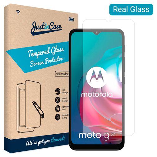 Productafbeelding van de Just in Case Gehard Glas Clear Screenprotector Motorola Moto G10/G30