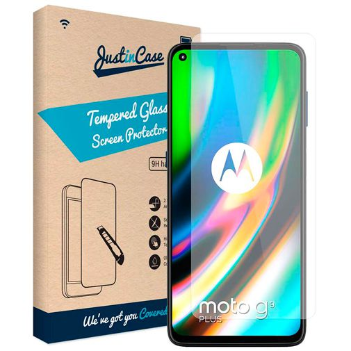 Productafbeelding van de Just in Case Gehard Glas Clear Screenprotector Motorola Moto G9 Plus