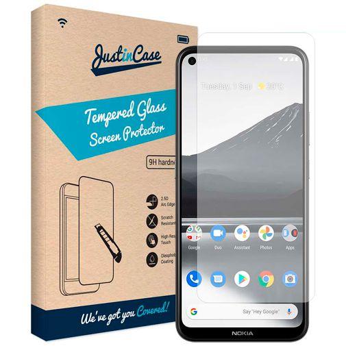 Productafbeelding van de Just in Case Gehard Glas Clear Screenprotector Nokia 3.4