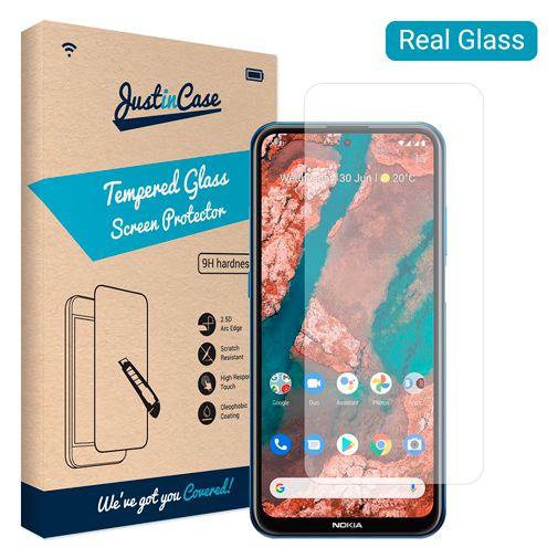 Productafbeelding van de Just in Case Gehard Glas Clear Screenprotector Nokia X10/X20