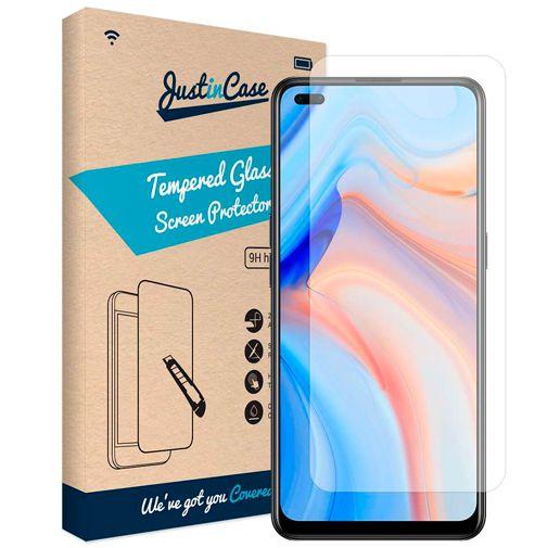 Productafbeelding van de Just in Case Gehard Glas Clear Screenprotector Oppo Reno 4