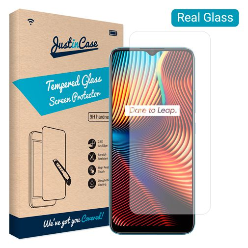 Productafbeelding van de Just in Case Gehard Glas Clear Screenprotector Realme 7i