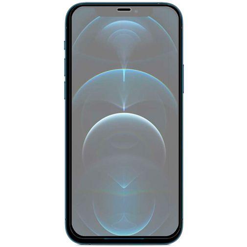 Productafbeelding van de Just in Case Gehard Glas Edge to Edge Screenprotector Apple iPhone 12 Pro Max Zwart