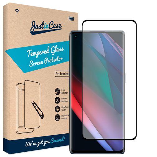 Productafbeelding van de Just in Case Gehard Glas Edge to Edge Screenprotector Oppo Find X3 Neo