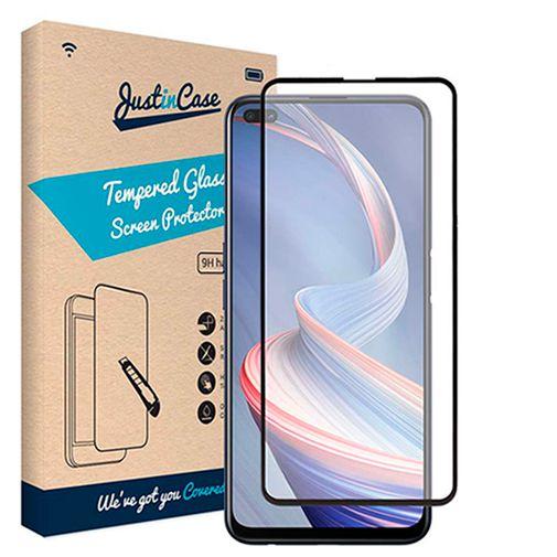 Productafbeelding van de Just in Case Gehard Glas Edge to Edge Screenprotector Oppo Reno 4 Z Zwart