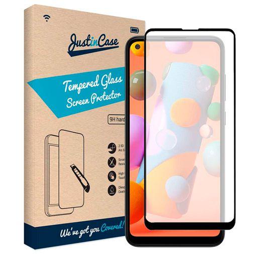 Productafbeelding van de Just in Case Gehard Glas Edge to Edge Screenprotector Samsung Galaxy M11