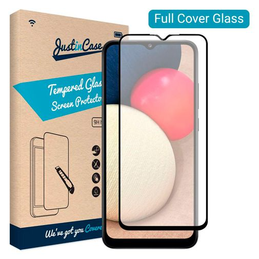 Productafbeelding van de Just in Case Gehard Glas Edge-to-Edge Screenprotector Samsung Galaxy A02s