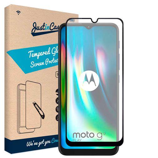 Productafbeelding van de Just in Case Gehard Glas Edge to Edge Screenprotector Motorola Moto G9 Play