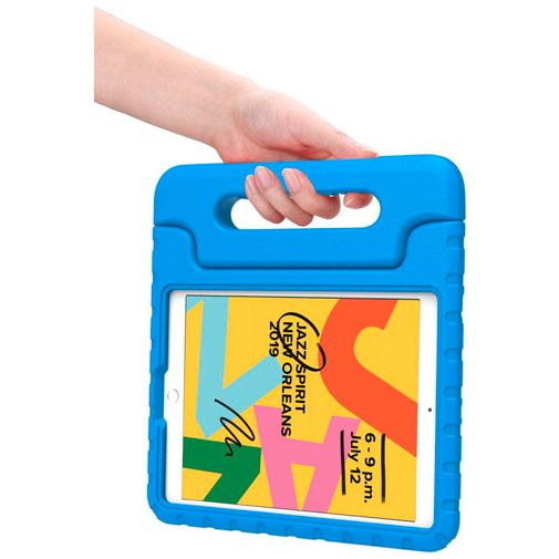 Productafbeelding van de Just in Case Kidscase Classic Blue Apple iPad 2019/iPad 2020