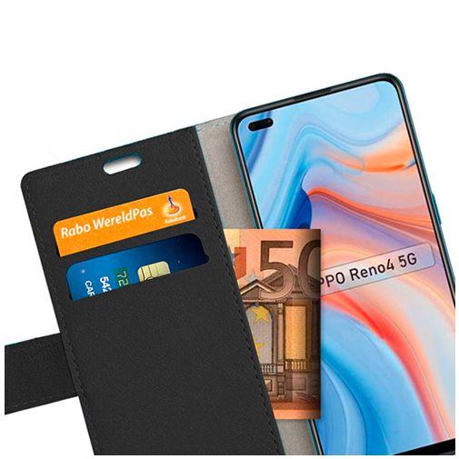 Productafbeelding van de Just in Case PU-leer Book Case Oppo Reno 4 Zwart