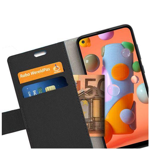 Productafbeelding van de Just in Case PU-leer Book Case Zwart Samsung Galaxy M11