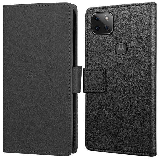 Productafbeelding van de Just in Case PU-leer Book Case Zwart Motorola Moto G 5G