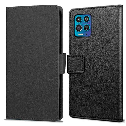 Productafbeelding van de Just in Case PU-leer Book Case Zwart Motorola Moto G100