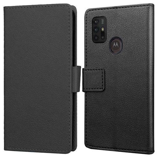 Productafbeelding van de Just in Case PU-leer Book Case Zwart Motorola Moto G30
