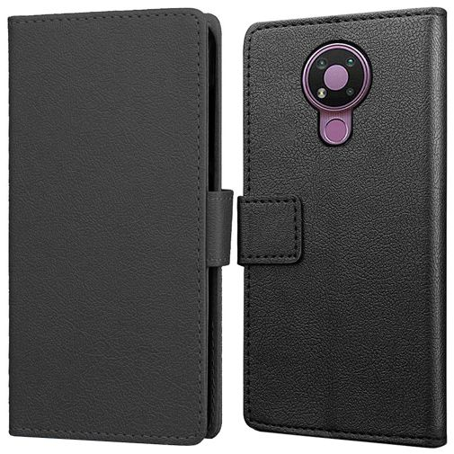Productafbeelding van de Just in Case PU-leer Book Case Zwart Nokia 3.4